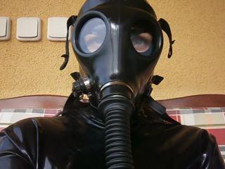 Sarka Israeli gas mask and in full latex