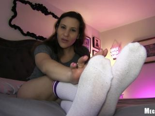 Toes – Pay To Obey Meggerz – Knee Sock Tease | highly arched feet | feet porn encasement fetish