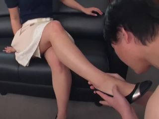 Beautiful asian legs worshipped and fucked