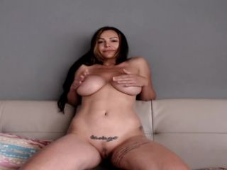ExEva hitachi gorgeous boobs completely naked cum show play with a v ...