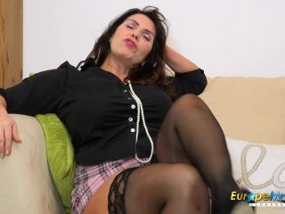 Josephine James with big tits plays with pussy