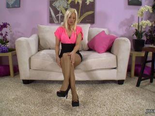 Jessie Volt - Jessie Volt's Pantyhose Tease - JBVdeo (HD 2020)