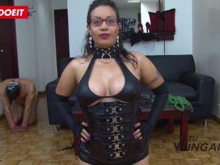Naughty Latina chick dominates and eats cum in dirty revenge sex   domination   fetish porn semen fetish