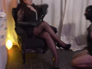 spit fetish porn Mistress Asmondena – From Nylons to Butt Fuck Slave – Strap-on, Bdsm, ass fucking on femdom porn