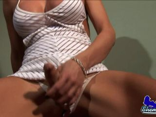 Astrid Shay Strokes Her Cock!!!