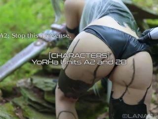 ManyVids.com - Lana Rain - A2 VS 2B  - cosplay - strap on