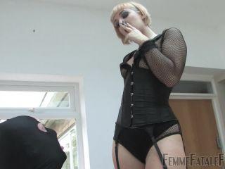 rubber femdom femdom porn   FemmeFataleFilms: Mistress Petite - Smokey Lust - Part 2   petite