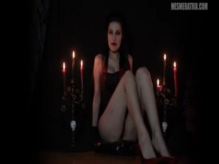 leather glove fetish LADY MESMERATRIX — WORSHIP THE DEVIL'S BRIDE, jerkoff on cumshot