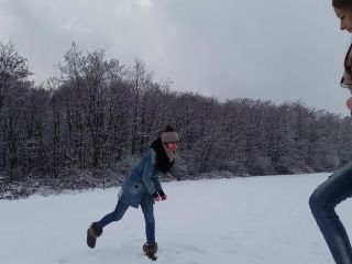 hardcore big tits rough sex cumshot | Play and Cum in Snow – Sexxy Lorry | outdoors