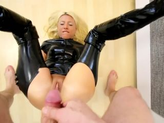 Bitch fucked in PVC -