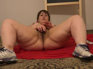 Porn tube Beautiful BBW with Hairy Pussy, Fuck yourself with a Hand, Deep Fisting -