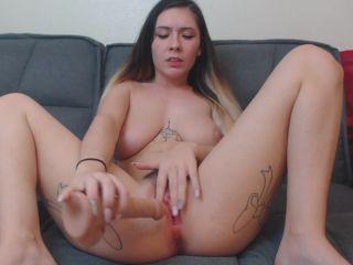 blonde milf porn Dildo Pussy Fucking With Moaning Cum – Elektra Eva, big ass on big ass