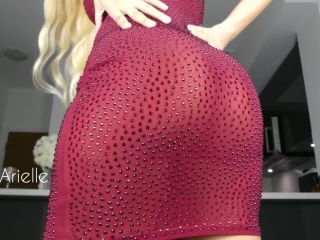 small dick femdom anal porn | Wowarielle: Peak Up My Dress Ass Tease | anilingus