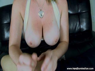 handdomination  her huge german tits make the perfect target  handdomination