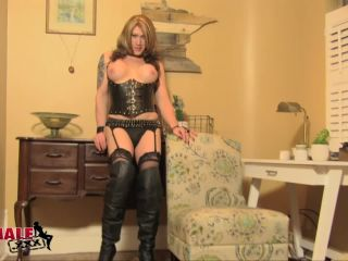 shemale: Kimber Haven - Cums On The Floor , light fetish on femdom porn