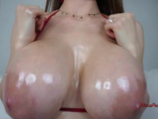 Miss Alexa Pearl - Tit Worship JOI Oil And Cummed On