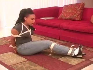 Ebony babysitter bondage