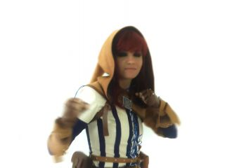 Tamia cosplaying in Meeting In The Bog