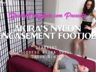 akira's pantyhose encasement footjob  bratty foot girls