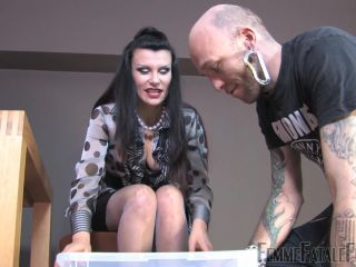 femdom tickling Femme Fatale Films: Miss Velour - Caught In The Act - Complete Film, cock slapping on feet porn