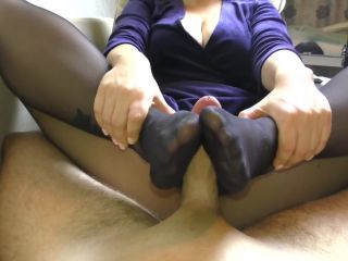 Amateur Teen StepSister Footjob Pantyhose[Hot!]