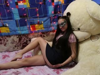 Asian Schoolgirl gets Hard Doggystyle and Cum on her back
