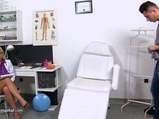 handjob - SpermHospital – Hospital CFNM featuring European MILF doctor Sima