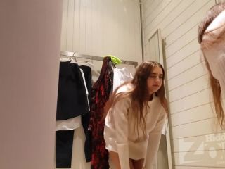 Nice nude girl in the dressing room. spy cam