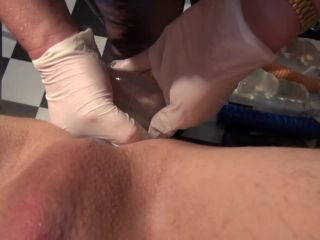 Big transparent butt plug fully insertion in husbands ass!!!