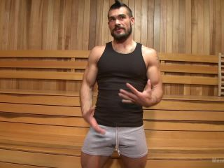 Cruising for Cock - Muscled jock gets tied up on black porn raven bay femdom