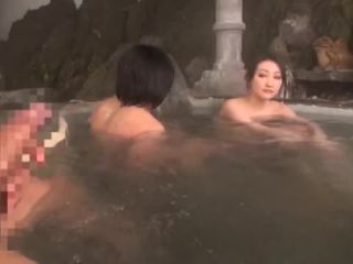 Awesome Japanese AV Model is a hot milf exposed in the outdoor baths Video Online