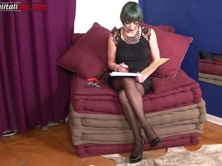 food fetish porn Mistress Letizia - The Professionist First Episode, foot play on pussy licking