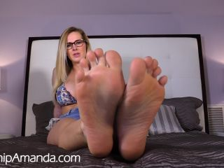 gia dimarco femdom masturbation porn | Worship Amanda - Humiliating Foot Worship JOI | dirty talk