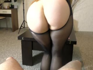 Teen Step Sis with Big Ass Assjob in Pantyhose
