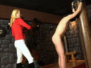 SadoLadiesFemdomClips: Empress Victoria - Double Punishment In The Cellar | domination | german big tit ass hd