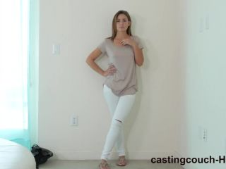 Blair gets huge black cock on castingcouch