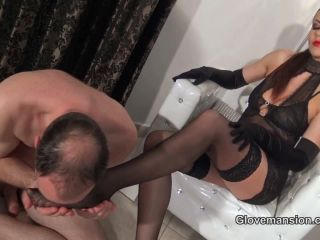 knicker fetish GloveMansion – Tina Kay – Sensual Satin Glovejob, humiliation on femdom porn