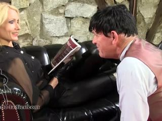 SADO LADIES Femdom Clips – My Ashtray Butler  Starring Empress Victoria – Smoking, Leather | sado ladies | fetish porn gay underwear fetish