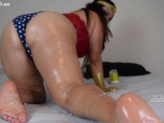 Monica Merlot WonderWoman Cosplay Footjob – Cabin Chronicles(Feet porn)