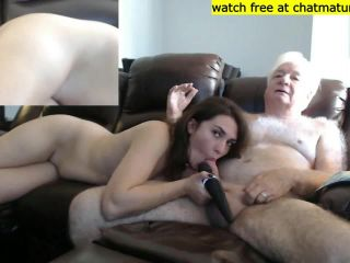 Old Dad Daughter On Cam