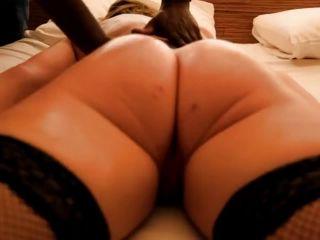 Qos Hotwife vs 2 BBC anal sex