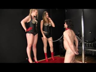 Ballbusting World - Nikki, Kelly - Rookie Ballbuster | cbt | fetish porn