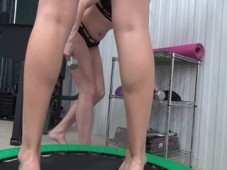 Gorgeous Princess Kaelin is having fun with her female slave after her workout