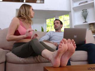 Love Her Feet - Cadence Lux, femdom tied on brunette
