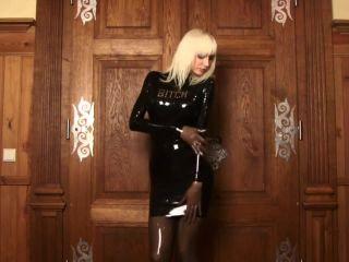 Susan Wayland Bitch Latex Dress -