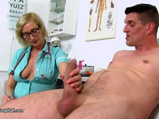 handjob - Sperm Hospital – Big boobs Euro Milf doctor Christa clinic blowjob