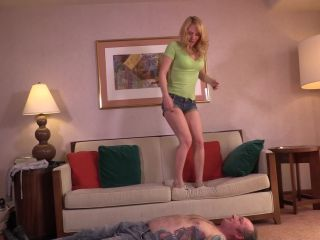 Trampling workout. Britney works up a sweat while jumping up and down … - trample - fetish porn neocorona femdom