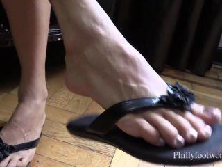 Philly Foot Worship – Jamie Daniels Flip Flop Treat – Footlicking, Footworship, anikka albrite femdom on femdom porn