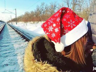 Nice Jane Brown Winter Outdoor Amateur Blowjob On The Railway Jane Bro ...