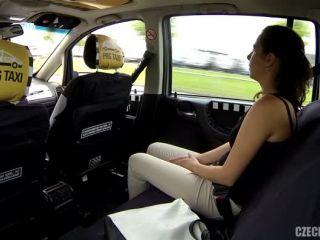 Cheating brunette   Czech Taxi 16
